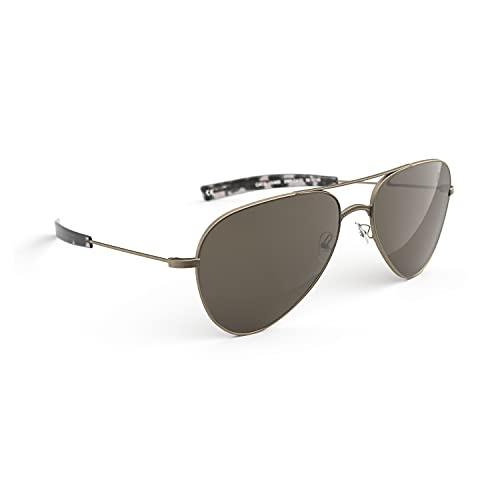 BËRGSTEIGER Montium Premium-Sonnenbrille polarisiert - Pilotenbrille für Damen Herren - federleichte & robuste Sportbrille oval mit UV-Schutz - Geschenkidee für Bergsteiger (Aviator - tigerauge)