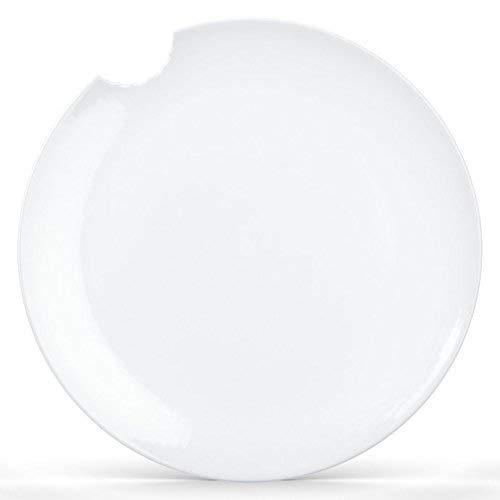 Fiftyeight Speiseteller mit Biss (Ø 28 cm) 2er Set / weiß