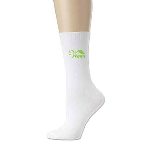 WU4FAAR Crew-Socken, veganes Logo, rutschfeste Socken, gemütliche Hausschuhe, für Damen und Herren, Schwarz Gr. Einheitsgröße, weiß