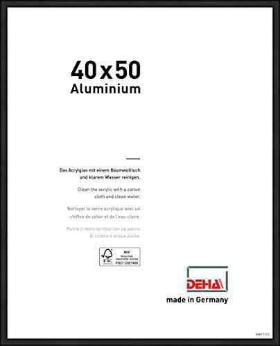 DEHA Aluminium Bilderrahmen Boston, 40x50 cm, Eloxal Schwarz Matt