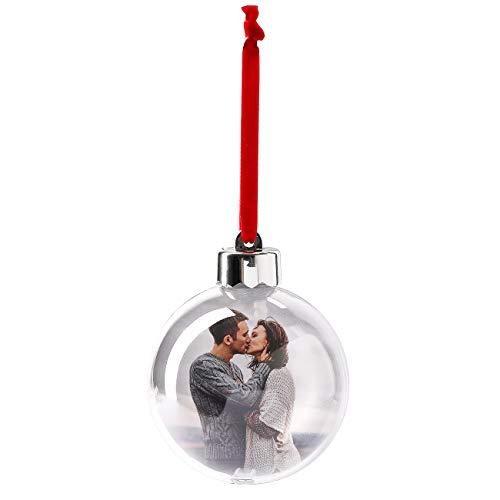 Herz & Heim® Personalisierte Weihnachtsbaumkugel mit Foto - fertig gebastelt für Sie mit 2 Lieblingsbildern