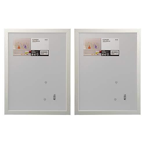 Ikea, Fiskbo Bilderrahmen, 30 x 40 cm, Weiß, Set mit 2 Stück