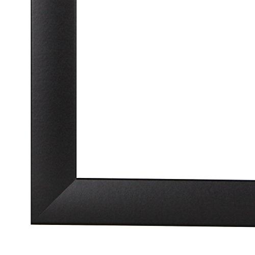 Olimp Bilderrahmen 100x150 oder 150x100 cm in SCHWARZ normal Kunstglas und Rückwand, 35 mm breite MDF-Leiste mit Dekor Folienummantelung