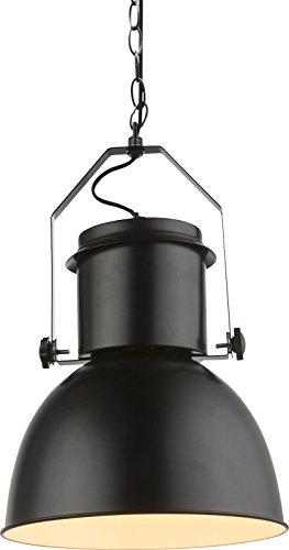 Pendelleuchte Schwarz Vintage Industrial Esszimmer Hängelampe Küche (Restaurant Lampe, Industrielampe, Metall, 27 cm)