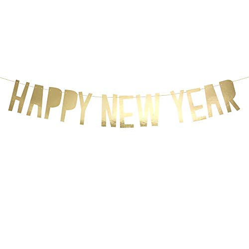 Luck and Luck Gold Happy New Year Karte Banner Wimpelkette 2 m String
