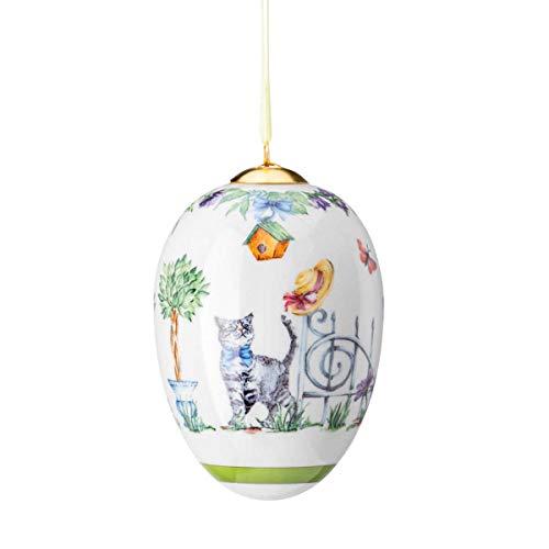 Hutschenreuther Porzellan Ei, Bunt, Ø 7,1 / Höhe cm 10,5