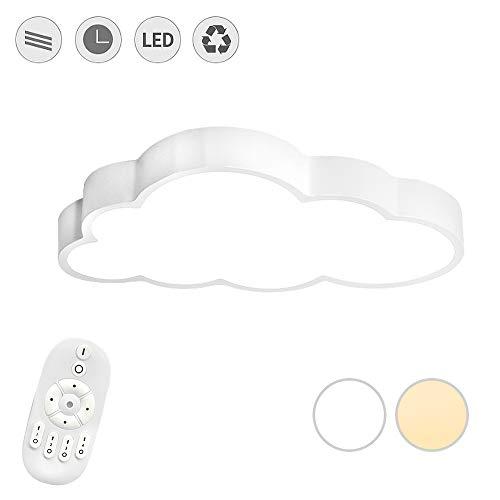 LeMeiZhiJia 48W LED Wolken Deckenlampe - Ultra-dünne 5cm Kreative Deckenleuchte für Schlafzimmer Küche Büro Kinderzimmer, Dimmbar