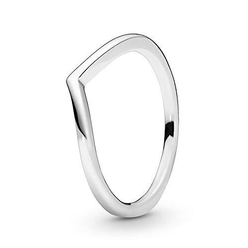 Pandora Damen Polished Wishbone Ring Sterling Silber 196314-56