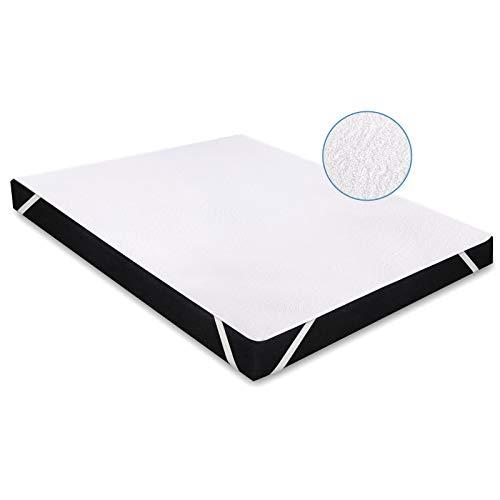Karcore Matratzenschoner Wasserdichter Atmungsaktive Matratzenauflage, gegen Milben, Anti-Allergie Matratzenschutz (180 x 200 cm, 2er Set)