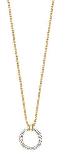 ESPRIT Glamour Damen-Kette mit Anhänger ES-PERIBESS GOLD teilvergoldet Zirkonia transparent 42 cm - ESNL03009B420