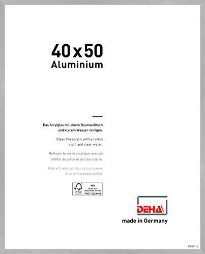 DEHA Aluminium Bilderrahmen Tribeca, 40x50 cm, Struktur Silber Matt