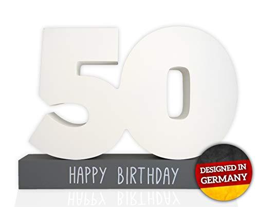 Huckleberry Home® Gästebuch Geburtstag aus Holz - Gästebuch für den Geburtstag für Männer und Frauen inkl. Stift - Kreative Geschenkidee - Tischdeko (50)