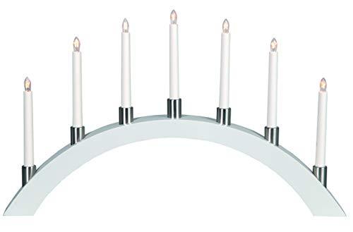 Star LED-Fensterleuchter' Tall-Bow', 7-flammig Material: Holz/Metall, 40 x 67 cm Vierfarb-Karton, weiß 260-48