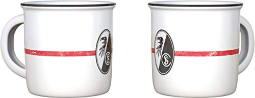 SC Freiburg Tasse, Becher Emaille-Optik