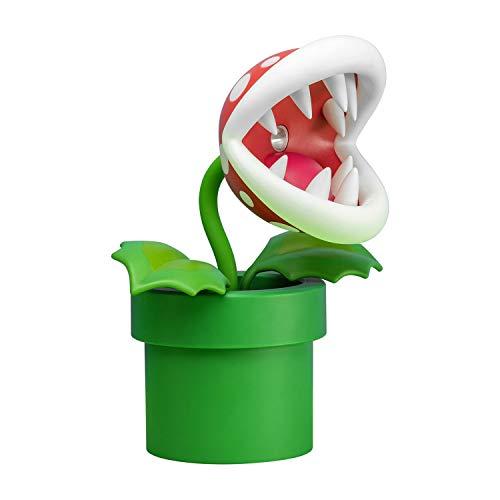 Paladone Piranha Plant Lampe BDP   LED-Licht mit flexiblem Kopf Nintendo Fans   Offiziell Lizenziertes Super Mario   33 cm hoch, USB-betrieben, Plastik, Rot/Grün, 33cm Tall, PP6348NN