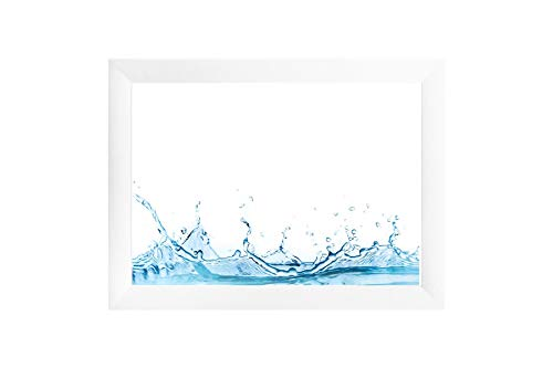 ByMoris A+ 100x150 cm Bilderrahmen in Farbe Weiß Matt mit Antireflex-Acrylglas