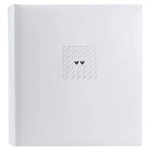 goldbuch 32450 Hochzeitsalbum Elegance, Album für Fotos & Bilder, 34 x 35 cm, Fotoalbum mit 100 weiße Seiten mit Pergamin-Trennblättern, Kunstleder mit Silberprägung, Perlmutt