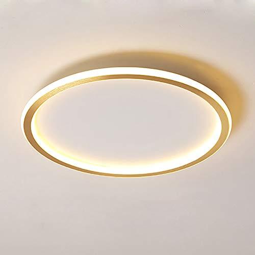 Vikaey dimmbare LED Deckenleuchte mit Fernbedienung, moderne LED Lampen Deckenlampen, Runde Leuchte für Wohnzimmer Küche Insel Schlafzimmer Esszimmer (50cm*50cm*4cm)
