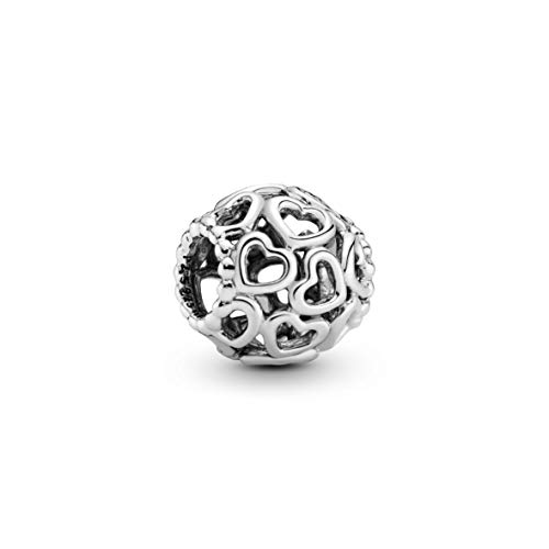 Pandora Moments All Over-Herzen Charm Sterling Silber 790964