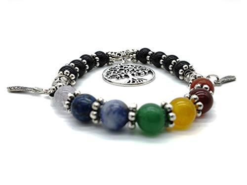 7 Chakra Power Healing Edelstein Armband im Schmuckbeutel