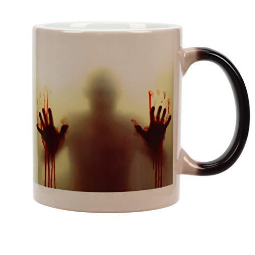 Incutex Color changing mug Tasse mit Thermoeffekt Farbwechsel Tasse – Zombie