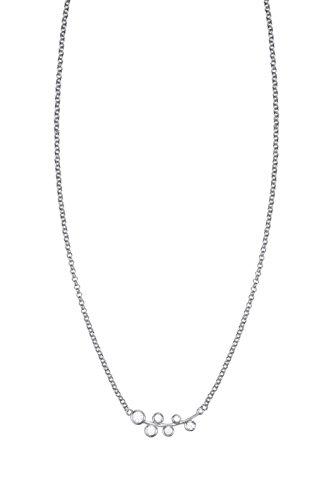 Esprit Damen-Erbskette JW50004 925 Silber rhodiniert Zirkonia weiß Rundschliff 40 cm - ESNL93337A400