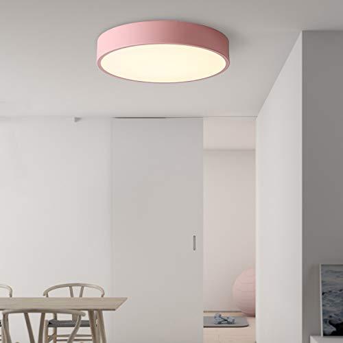 Avior Home 24 W LED Deckenlampe Deckenleuchte'Pastell' Tageslicht, Pink Ø40 cm für Wohnzimmer, Schlafzimmer, Küche