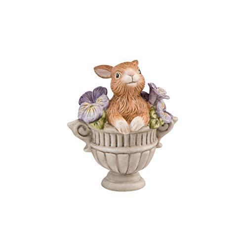 Goebel Jahresornament 2019 Häschen im Blumentopf mit Stiefmütterchen Ostern Hase