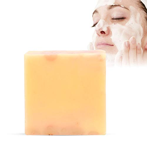 Rose Handmade Face Peeling Seife, Skin Whitening Moisturizing Deep Cleaning Soap mit Rose Extraxt, effektiv entfernen Schmutz Mitesser Pickel Fett