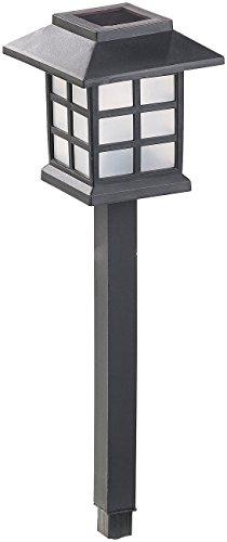 Lunartec Gartenlichter: 6er-Set Solar-LED-Wegeleuchten Asian mit Lichtsensor, IP44 (LED Gartenlampe)