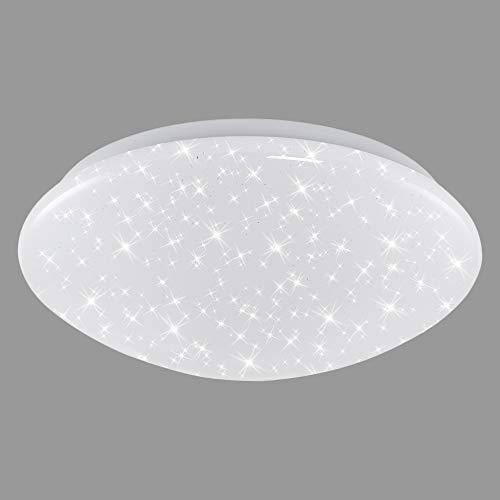 Briloner Leuchten - LED Deckenleuchte, Deckenlampe mit Sternendekor, 12W, 1.200 Lumen, 4.000 Kelvin, weiß, Ø28 cm