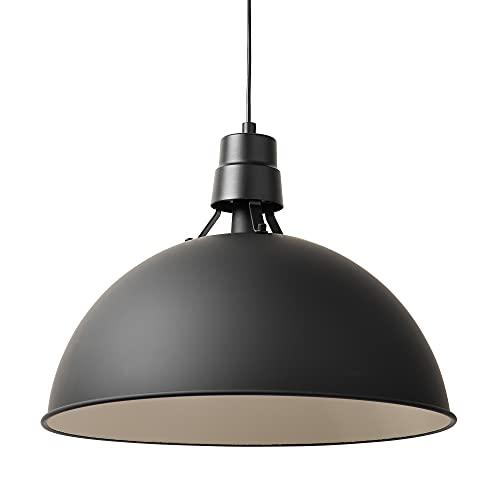 Tabdoq, XL Pendelleuchte im Industrial Design, XL Hängelampe aus Stahl, Durchmesser 51 cm, schwarz