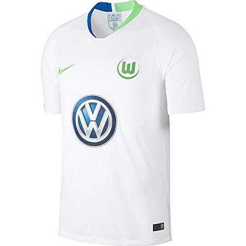 Nike Herren VFL Wolfsburg Breathe Stadium Away T-Shirt, White/Green Strike, M