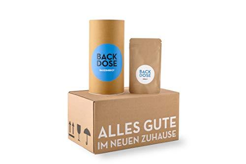 Brot und Salz Box - BACKDOSE® - Umzugsgeschenk, Einzugsgeschenk, EInweihungsgeschenk, Brotbackmischung