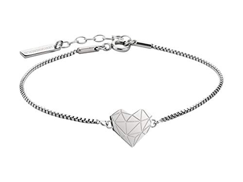 LIEBESKIND LJ-0328-B-17 Damen Armband Herz Edelstahl Silber 20 cm