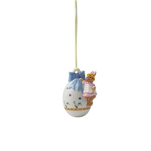 Villeroy & Boch Annual Easter Edition Jahresei 2020, dekoratives Element für den Osterstrauch, Premium Porzellan, 4.5 x 6 x 7.5 cm, bunt, 4,5x6x7,5, Ei