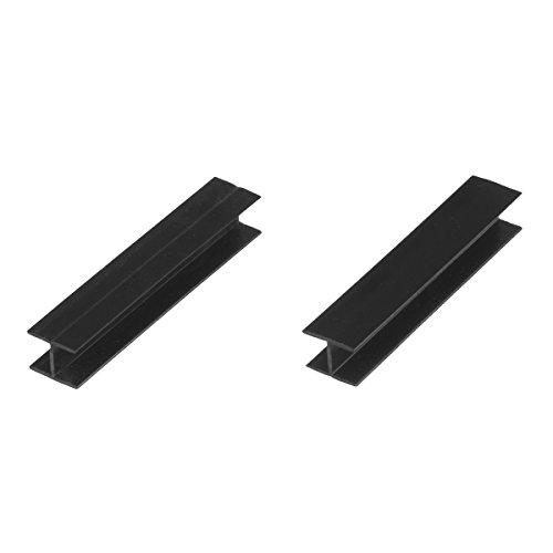 HOLZBRINK Verbinder Sockelblende Sockelleiste für Einbauküche 150mm Höhe SCHWARZ Hochglanz - HBK15