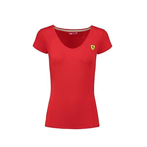 Ferrari 2018 Scuderia Damen-T-Shirt, klassisch, V-Ausschnitt, Größen XXS-XL