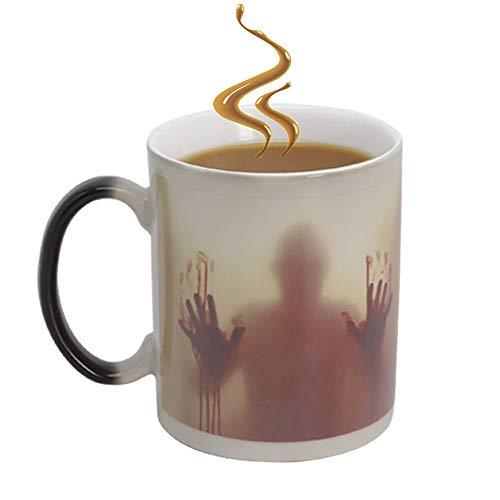 IGZOM Farbwechsel Tasse,walking dead magische Keramik becher,Zombie Mug,lustige geschenke