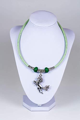 Syloschmuck  Damenkette  Halskette  Pferd  Kork  Weihnachtsgeschenk Handmade Geschenk für Sie
