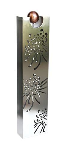 Unbekannt VARILANDO® Gartenschilder aus Edelstahl in 4 Varianten Garten-Säule Garten-Dekoration Garten-Deko (Modell 2)