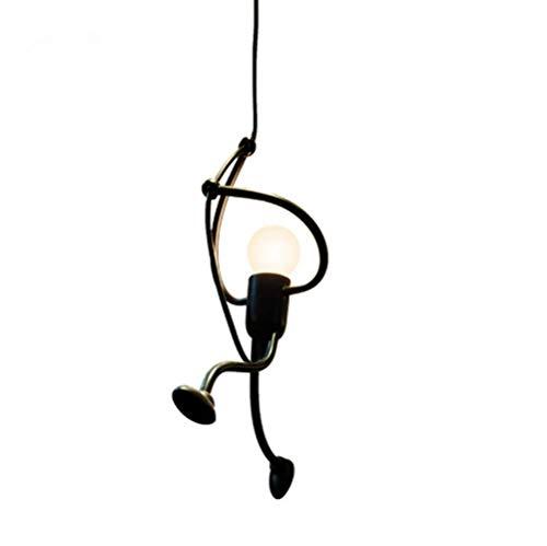 DAXGD Eisen Pendelleuchte, Kreative Eisen Cartoon Design Hängende Lampen für Kinder Kinder Schlafzimmer, E27, Lampe Nicht enthalten