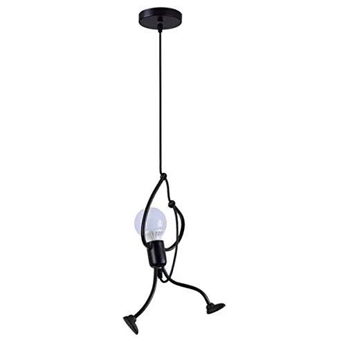 ZYDTRIP Vintage Eisen Pendelleuchte, Kreative Eisen Cartoon Design Hängelampen mit 1 Meter Kabel