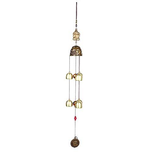 Bicaquu Hängende Verzierung Viel Glück Feng Shui Farbe Glocken Windspiele China Home Dekore(02)