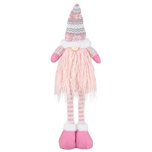 EKKONG Ostern Weihnachten Deko Wichtel 57 cm Hoch,Schwedischen Weihnachtsmann Santa, Schwedische Wichtel Santa Dolls, Süße Weihnachten Figur aus Weihnachtsfigur Dwarf Weihnachts Deko (Pink)