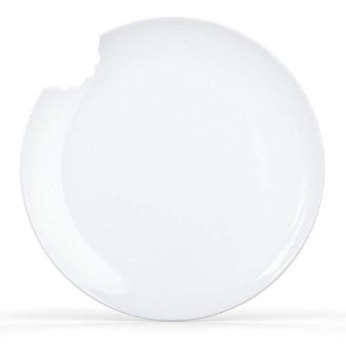 Fiftyeight Kuchenteller mit Biss (Ø 20 cm) 2er Set / weiß