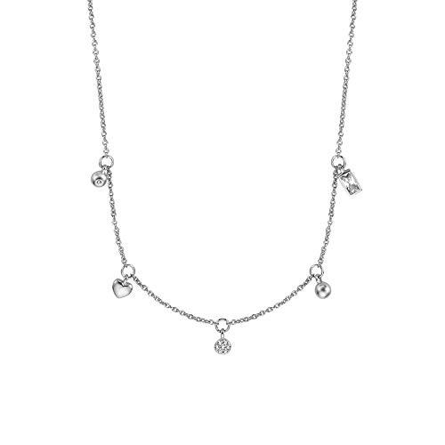 Esprit ESNL00971142 Damen Collier Blink Sterling-Silber 925 Silber weiß 45 cm