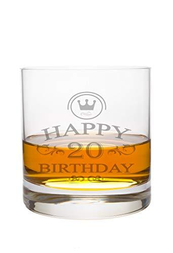 Whiskeyglas Leonardo mit 20 Jahre Gravur - Geburtstag Geschenk Geschenkidee Whisky-Glas graviert