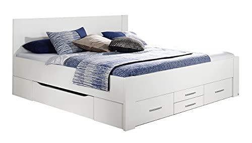 Rauch Möbel Isotta Bett mit Schubkästen in Weiß, Liegefläche 180x200cm, Gesamtmaße BxHxT 200x96x180 cm