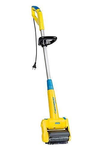 Gloria MultiBrush speedcontrol, Gartengerät elektrisch, Unkrautbürste, Fugenreiniger-/bürste, Reinigungsbürste, Rasenkantenschneider, für Terrassenplatten-/dielen, mit Teleskopstange / Drahtbürste